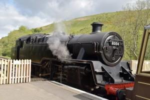 Steam locomotive at Swanage station, Dorset